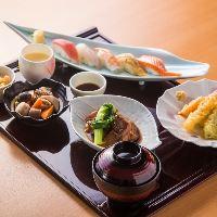 【寿司和膳】 季節の天ぷらや握り寿司を楽しめる充実のご膳