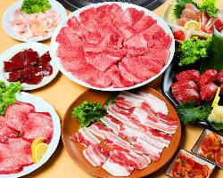 上質なお肉が堪能できるコースは2,500円~ご提供!