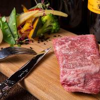 薬を一切使用せず育てた宮崎県産EMO牛をステーキで