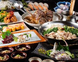 コスパ抜群!多彩な鮮魚料理を堪能する人気コースは4,000円~!