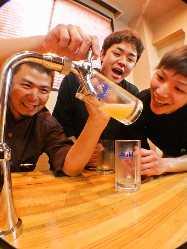 ビール好きにはたまらない環境です☆