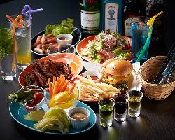 多彩なラインナップのお酒と充実のフードメニューをご用意