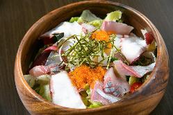 鮮度にこだわり仕入れた鮮魚!お刺身やサラダでどうぞ◎
