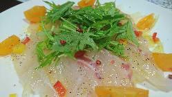 長島産の鮮魚を使用したカルパッチョは絶品!