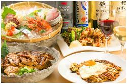 鮮魚やサガリステーキ/鉄板焼き等堪能コースは3,000円~