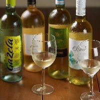 赤白ワインも豊富です。
