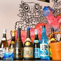 沖縄が誇る泡盛も豊富です!10年以上の泡盛古酒もございます◎