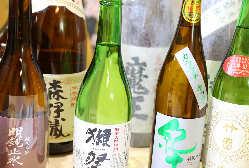 日本酒は和食の味が引き立つこだわりの銘酒をご用意