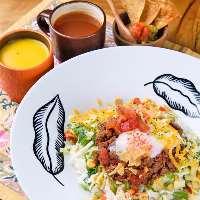 【ランチ】 本日の小鉢&スープ付!ご飯の大盛りはなんと無料