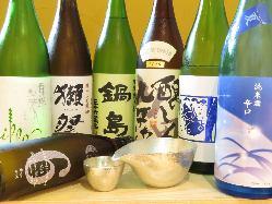 九州を中心とした厳選した日本酒は必見!!