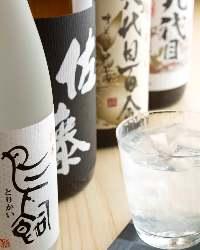 焼酎・日本酒も多数取り揃えております。