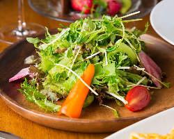糸島の新鮮な野菜をたっぷり使っています!