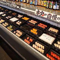 【お寿司食べ放題】 豊富なお寿司がバイキング形式で食べられる