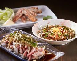 [石垣黒鶏(くろどり)] 島内産の銘柄鶏を使った絶品料理もご用意