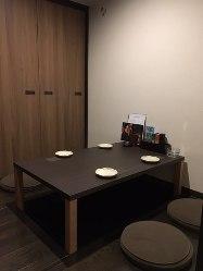 4名様用の完全個室。 接待・デート・記念日などに最適空間