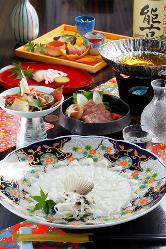 【期間限定】フグなど、その時期の旬の魚介を使った料理を提供