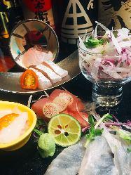 朝取れ地魚、季節の旬をお愉しみください♪
