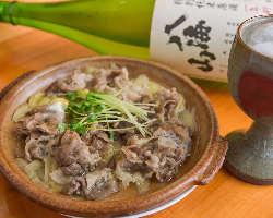 逸品「牛肉の柳川風」も日本酒との相性抜群◎