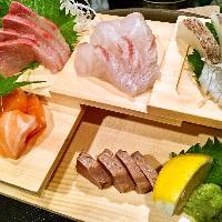 新鮮な魚介は、3種盛500円!5種盛1000円でご提供!