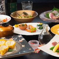 旬の食材を使った料理で織りなす飲み放題付きコース6,000円〜