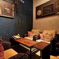 【ソファー席個室】 のんびりリラックスできるソファー席の個室