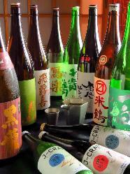 数多くの日本酒からお選び下さい。