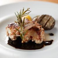 ◇久米島赤鶏のソテー◇ 生クリームとポルチーニのソースが絶妙