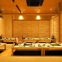 和モダンな完全個室席で自慢の九州料理の数々をご堪能あれ!
