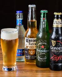 各種ビールで乾杯♪