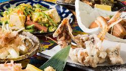 自慢の沖縄料理を揃えたお得に楽しむ宴会コースは3,500円~!