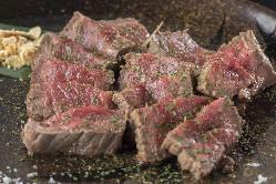 がっつりステーキは和牛とUSサガリをご用意!