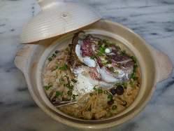 鯛とキノコの土鍋飯