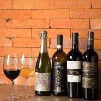 赤ワイン、白ワイン、スパークリングワインなど豊富にご用意。