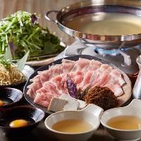 厳選島野菜鍋ときびまる豚のしゃぶしゃぶが1度で堪能出来る草鍋