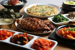 ◆コース◆ 「サムギョプサル」など、本格韓国料理をご堪能。