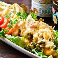 【チキン南蛮】 ゴロゴロ野菜が嬉しいタルタルソースがたっぷり