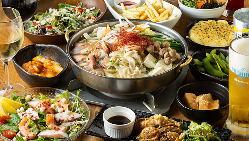 [居酒屋メニューも◎] お刺身やもつ鍋など一品料理も楽しめます