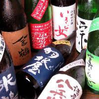 全国各地より取り寄せた日本酒や焼酎が盛りだくさん♪