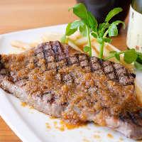 こちらもソースは手作り◎ここだけのお味の牛ロースのステーキ