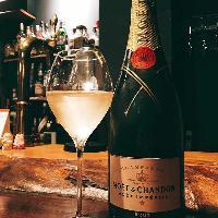 シャンパンも充実。