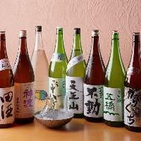 海鮮料理とよく合う日本酒がずらり!季節のお酒も見逃せません