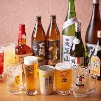 単品飲み放題はご予算やシーンに合わせて3種類から選べます