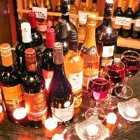 豊富なドリンクメニュー♪ワインセラーもあります!