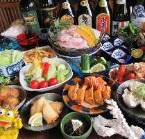 沖縄ならではのヤギ料理もご用意しております。