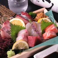 自社の漁師が取った九州近海の幸を使った料理