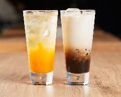 タピオカを使用した【マンゴー】&【紅茶】も絶品!!