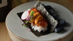 【海鮮料理】 鮮度抜群の魚を刺身や海苔すしでご堪能ください