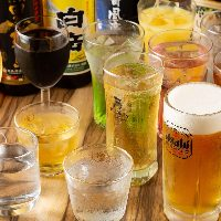 【お酒】 幅広い世代のお客様のお好みに対応する豊富なドリンク