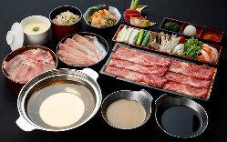 国産牛・鹿児島黒豚が食べ放題2,980円うどんは久留米製麺所から