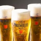 飲み放題のビールはすべてサントリープレミアムモルツもOK!